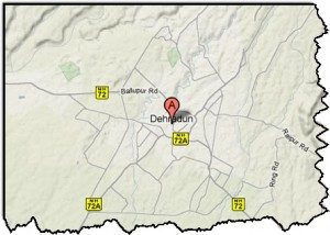 Map of Dehradun District