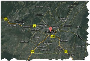 Satellite Map of Dehradun